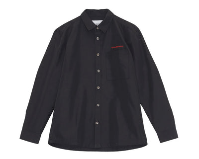 Han Kjobenhavn Boxy Shirt Social Resort Black Twill M130227