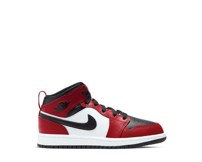 Jordan 1 Mid PS Black / Black - Gym Red 640734-069