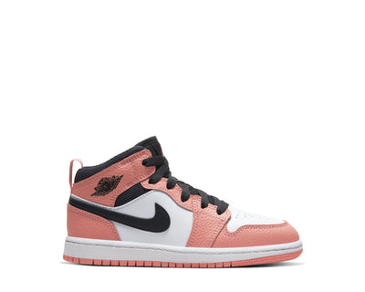 Jordan 1 Mid PS Pink Quartz / DK Smoke Grey - White 640737-603