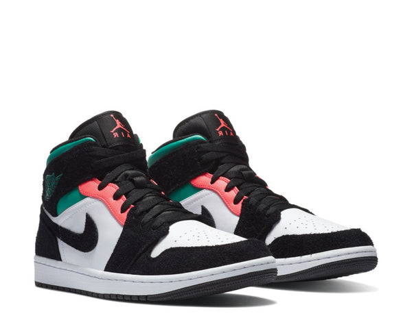 Jordan 1 Mid SE South Beach White / Hot Punch - Black 852542 116