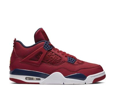 Air Jordan 4 Retro SE FIBA Gym Red / Obsidian - Metallic Gold CI1184-617