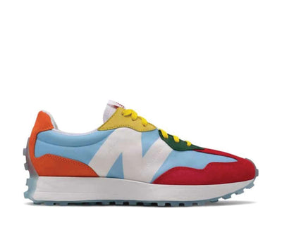 New Balance Kawhi 327 Munsell White / Team Carolina - Team Orange WS327CPB