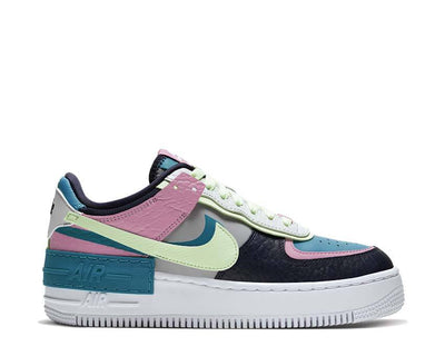 Nike AF1 Shadow SE LT Smoke Grey / Barely Volt - Oracle Aqua CK3172-001
