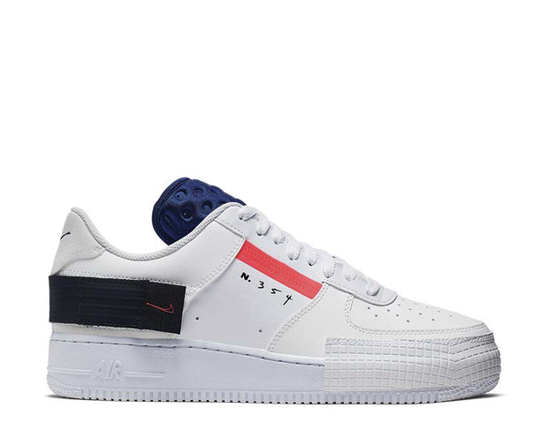 Nike AF1 TYPE Summit White Red Orbit White Black CI0054-100