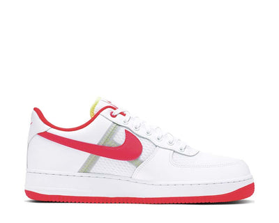 Nike Air Force 1 07' LV8 1 White Bright Crimson Barely Volt CI0060-102
