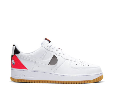 Nike Air Force 1 '07 LV8 White / White - Bright Crimson - Black CT2298-101