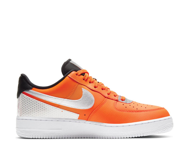 Nike Air Force 1 '07 LV8 Total Orange / Metallic Silver - Black CT2299-800