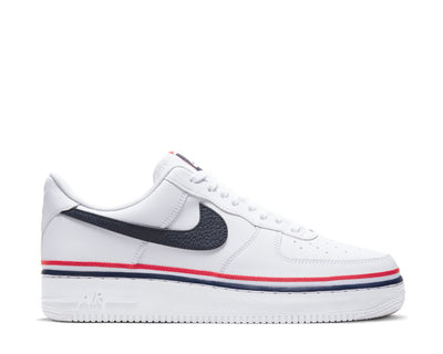 Nike Air Force 1 '07 LV8 White / Obsidian - Habanero Red CJ1377-100