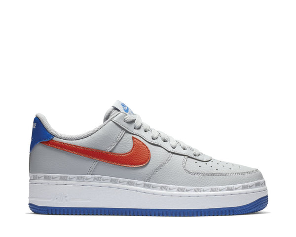06ed01b33be Nike Air Force 1  07 LV8 Wolf Grey Habanero Red Game Royal CD7339-001 ...