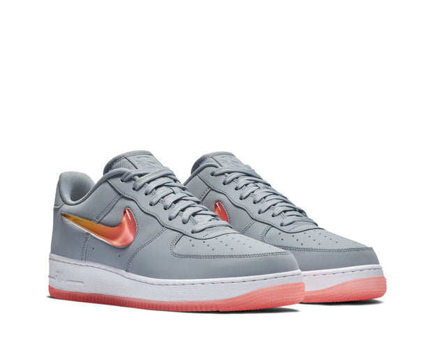 NIke Air Force 1 '07 Premium 2 Obsidian Mist Hot Punch University Red AT4143 400