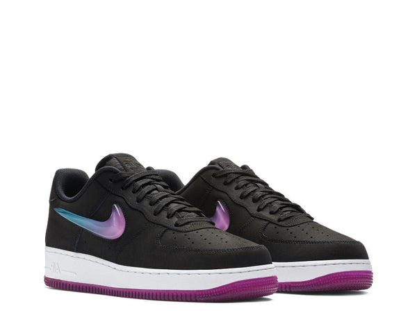 263e67b1e3 ... Nike Air Force 1 '07 Premium 2 Black Active Fuchsia Blue Lagoon White  AT4143 ...