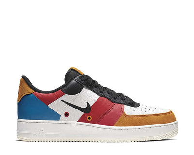 Nike Air Force 1 '07 Prm 1 Sail Black Imperial Blue Amber Rise CI0065-101