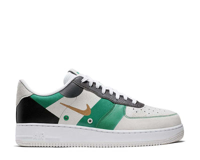 Nike Air Force 1 '07 Prm 1 White Metallic Gold Black Vast Grey CI0065-100