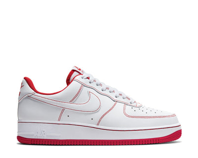 Nike Air Force 1 '07 White / White - University Red CV1724-100