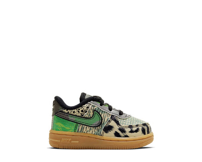 Nike Air Force 1 AS QS TD Black / Green Spark - Gum Light Brown CV2417-002