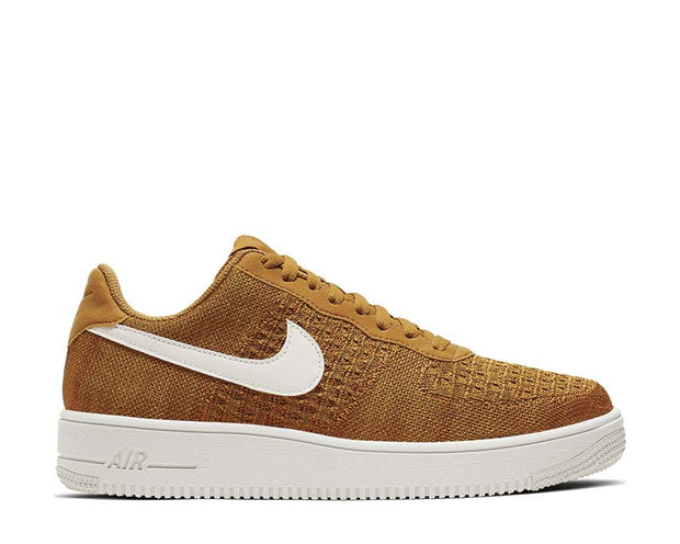 Nike Air Force 1 Flyknit 2.0 Gold Suede Sail Burnt Sienna CI0051-700