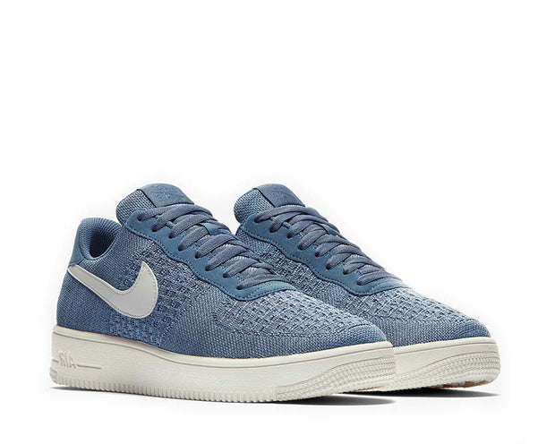 Nike Air Force 1 Flyknit 2.0 Ocean Fog Summit White Work Blue CI0051-400