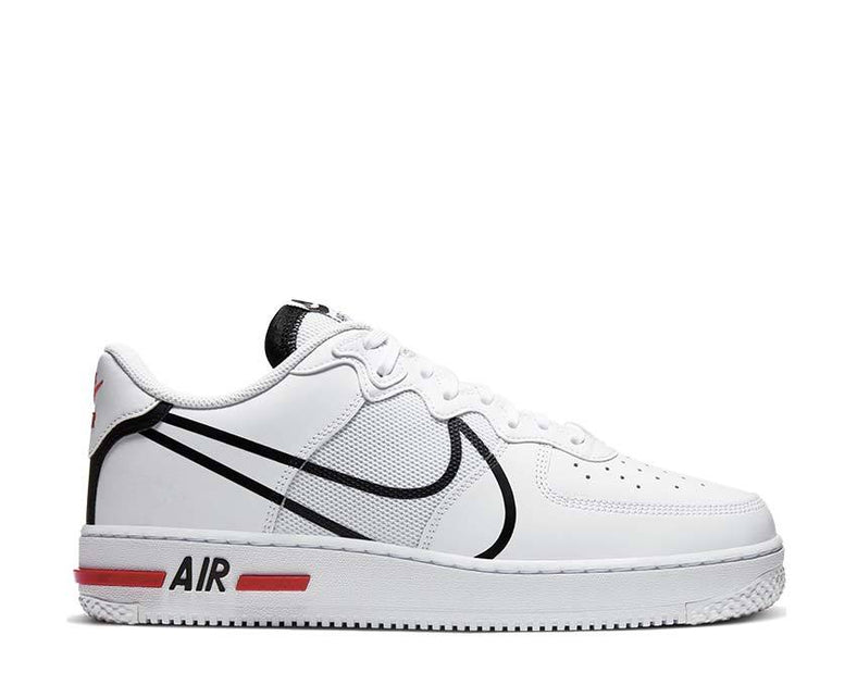 Air Force 1 React White Black Red CD4366 100
