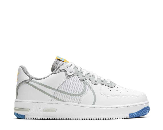 Nike Air Force 1 React White / LT Smoke Grey - University Gold CT1020-100