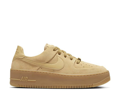 Nike Air Force 1 Sage Low Club Gold / Club Gold - Gum Light Brown CT3432-700