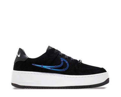 Nike Air Force 1 Sage Low LX Black / Deep Royal Blue - Metallic Silver CI3482-001