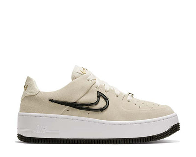 Nike Air Force 1 Sage Low LX Light Cream / Black - Metallic Gold - White CI3482-200