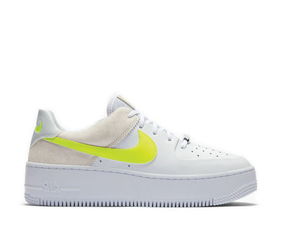 Nike Air Force 1 Sage Low White / Lemon Venom - Pure Platinum - Fossil CW2652-100