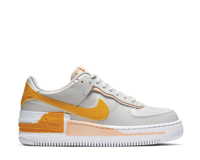 Nike Air Force 1 Shadow Vast Grey / Pollen Rise - Washed Coral - White CQ9503-001