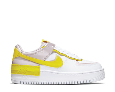 Nike Air Force 1 Shadow White / Speed Yellow - Barely Rose CJ1641-102