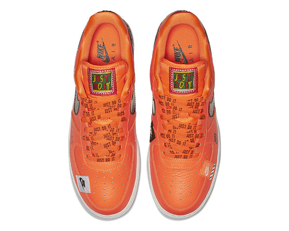 "Nike Air Force 1 Premium  Orange ""Just Do It"" AR7719-800"