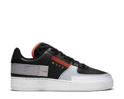 Nike Air Force 1 Type Black / Hyper Crimson - Wolf Grey - White CQ2344-001