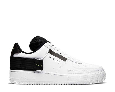 Nike Air Force 1 Type White / Volt - Black - White AT7859-101