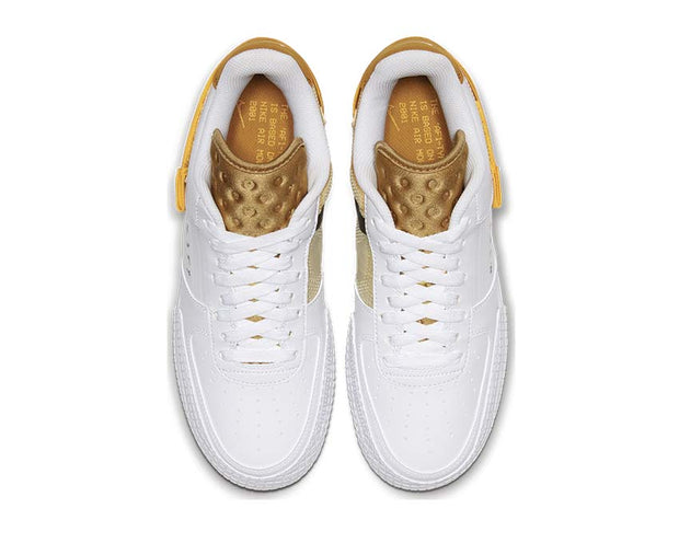 Nike Air Force 1 Type White / University Gold - Gold Suede AT7859-100