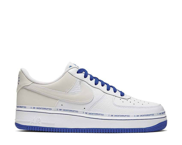Nike Uninterrupted Air Force 1 More Than__ White / Black - Racer Blue CQ0494-100