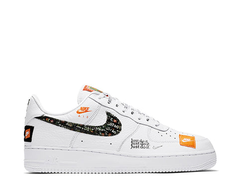 "Nike Air Force 1 Premium White ""Just Do It"""