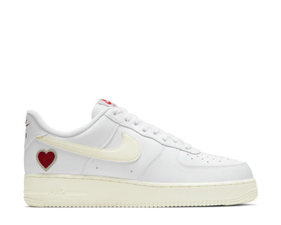Nike Air Force 1 White / Sail - University Red DD7117-100