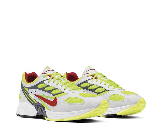 Nike Air Ghost Racer White Atom Red Neon Yellow Dark Grey AT5410-100