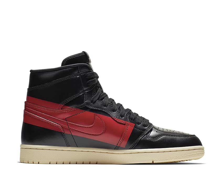 Jordan 1 Defiant Style Black Gym Red Muslin BQ6682-006