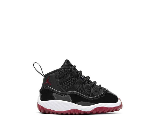 Air Jordan 11 Retro 3/4 Bred Black True Red White 378040-061