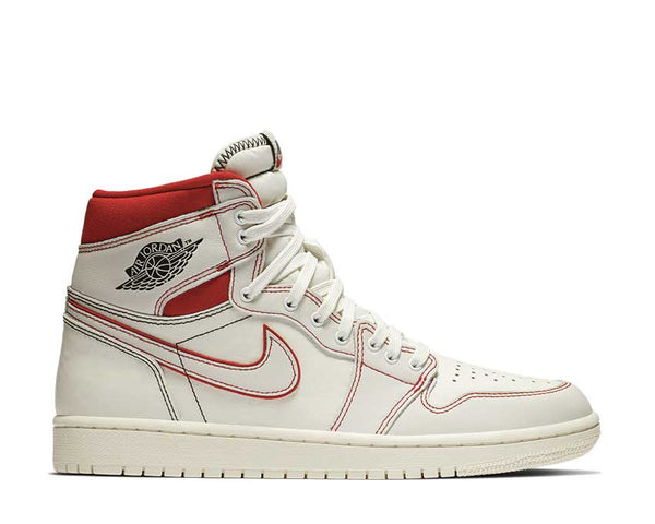 cheap for discount f8274 7f386 Nike Jordan 1 Retro High OG Sail   Black - Phantom - University Red 555088-  ...