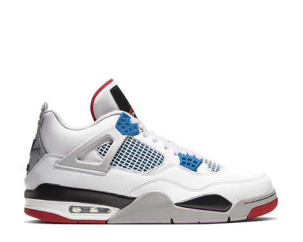 Air Jordan 4 Retro SE White / Military Blue - Fire Red - Tech Grey CI1184-146