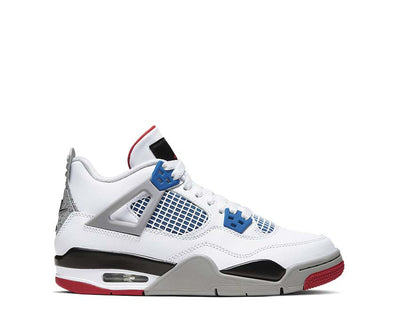Air Jordan 4 Retro White / Military Blue - Fire Red - Tech Grey 408452-146