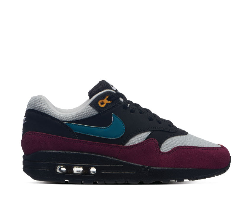 Nike Air Max 1 Black Geode Teal Light Silver Bordeaux 319986-040