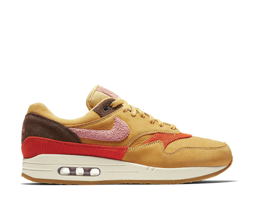 Nike Air Max 1 CREPE Wheat Gold Rust Pink Baroque CD7861-700