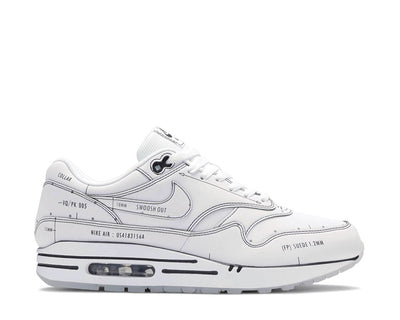 "Nike Air Max 1 Tinker ""Sketch To Shelf"" Schematic White / White - Black CJ4286-100"