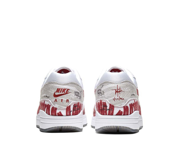 "Nike Air Max 1 Tinker ""Sketch To Shelf"" White / University Red - Neutral Grey CJ4286-101"