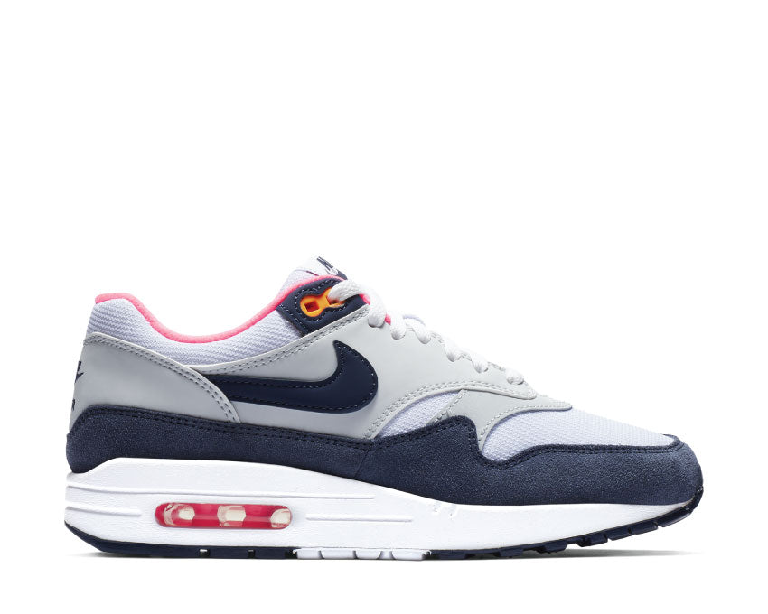 Nike Air Max 1 White Midnight Navy Pure Platinum 319986 116