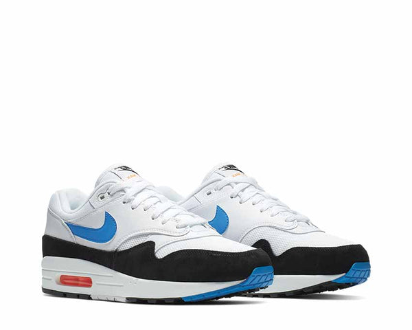 size 40 c4f61 c8daa ... Nike Air Max 1 White Photo Blue Total Orange Black AH8145-112 ...