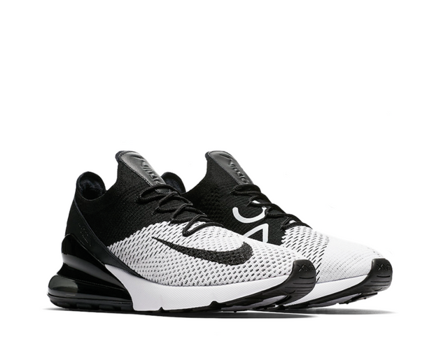 promo code 32886 7f293 Nike Air Max 270 Flyknit White Black