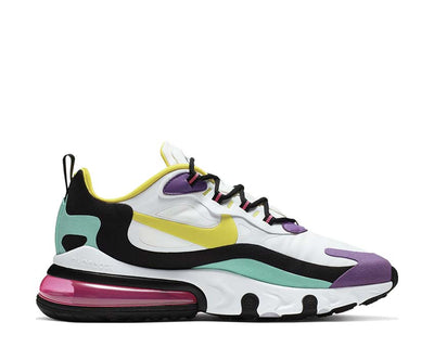 Nike Air Max 270 React White Dynamic Yellow Bright Violet AO4971-101